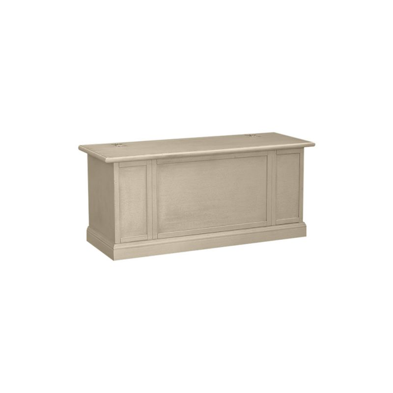 Cassapanca in legno shabby chic mod bolognese bianco decape for Cassapanca shabby chic