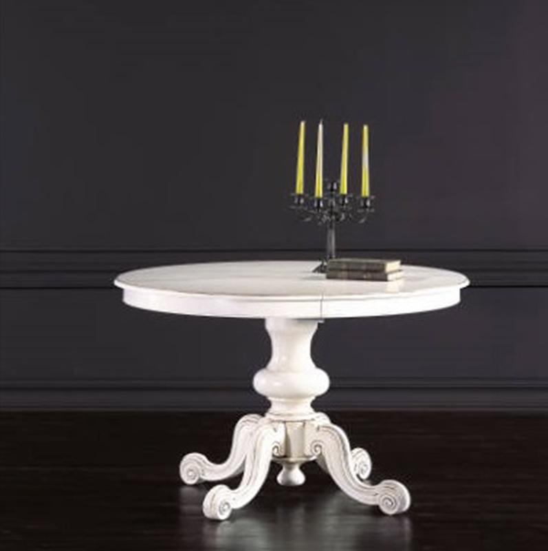 Tavolo rotondo bianco allungabile finest stunning tavoli for Tavolo tondo estensibile