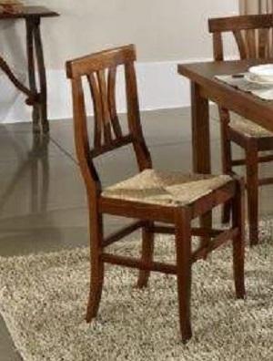 Sedie In Legno Arte Povera.Set Sedie In Legno Sala Cucina Arte Povera Mod Piera Seduta Paglia