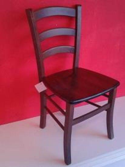 Sedie In Legno Arte Povera.Set Sedie In Legno Arte Povera Noce Scuro Mod Venezia Seduta Legno