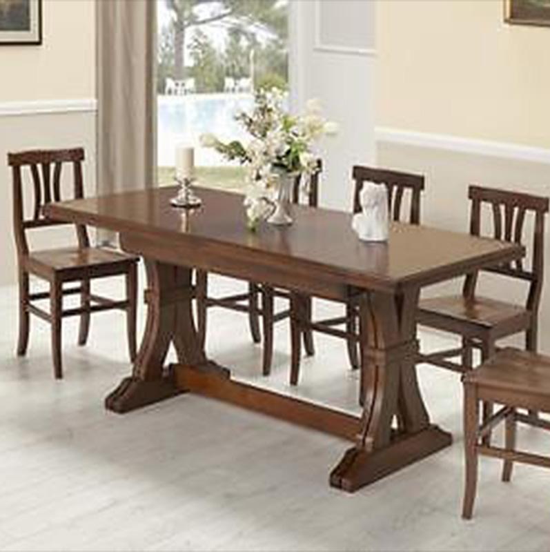 Tavolo fratino allungabile in legno con 6 sedie mod piera - Tavolo allungabile con sedie ...