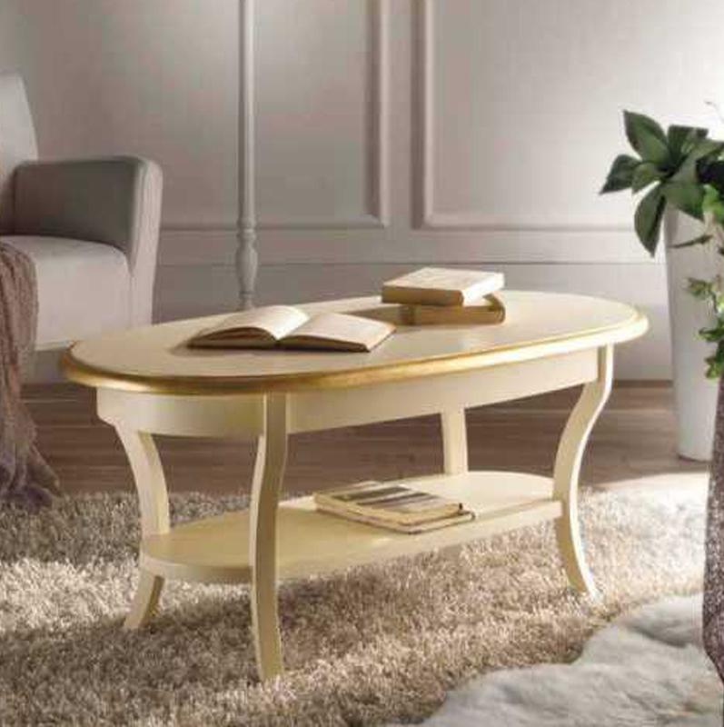 Tavolini Da Salotto Ovali In Legno.Tavolino Da Fumo Ovale Salotto In Legno Mod Monica Shabby