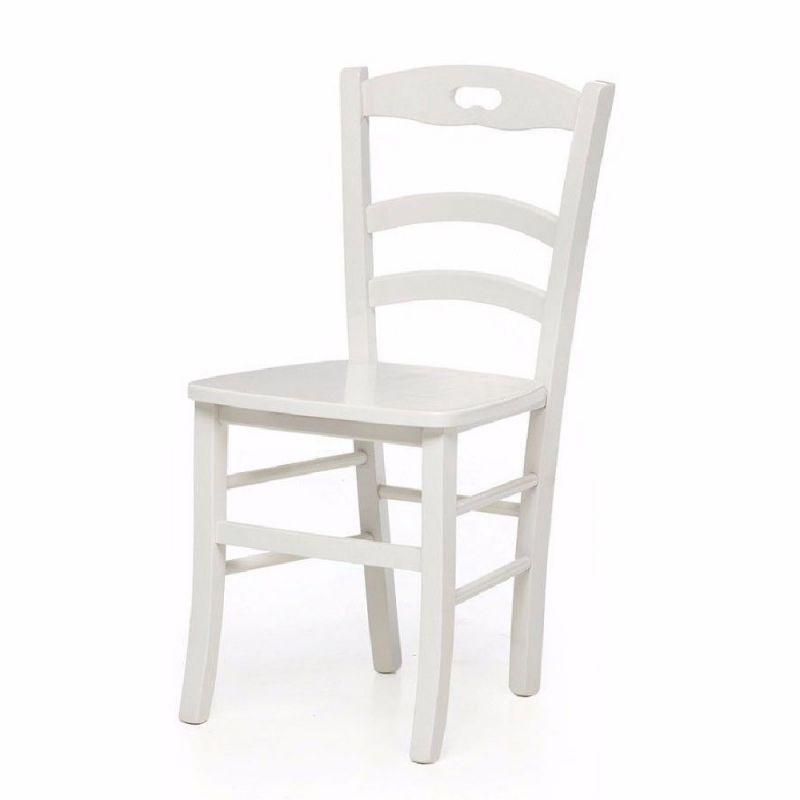 Costo Sedie In Legno.Set Di 2 O Piu Sedie In Legno Shabby Chic Bianco Mod Miky Seduta