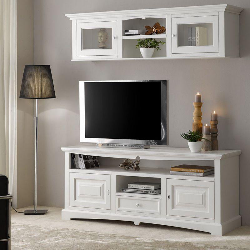 Mobiletti Porta Tv Shabby.Mobile Porta Tv Shabby Chic In Legno Laccato Bianco Mod