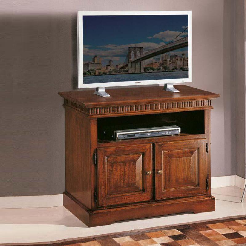 Porta Tv Da Mobile.Mobile Porta Tv In Legno Massiccio Mod Arcadia Noce Scuro