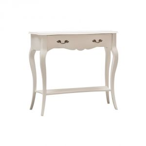 CONSOLLE IN LEGNO SHABBY CHIC BIANCO OPACO MOD ELOISE